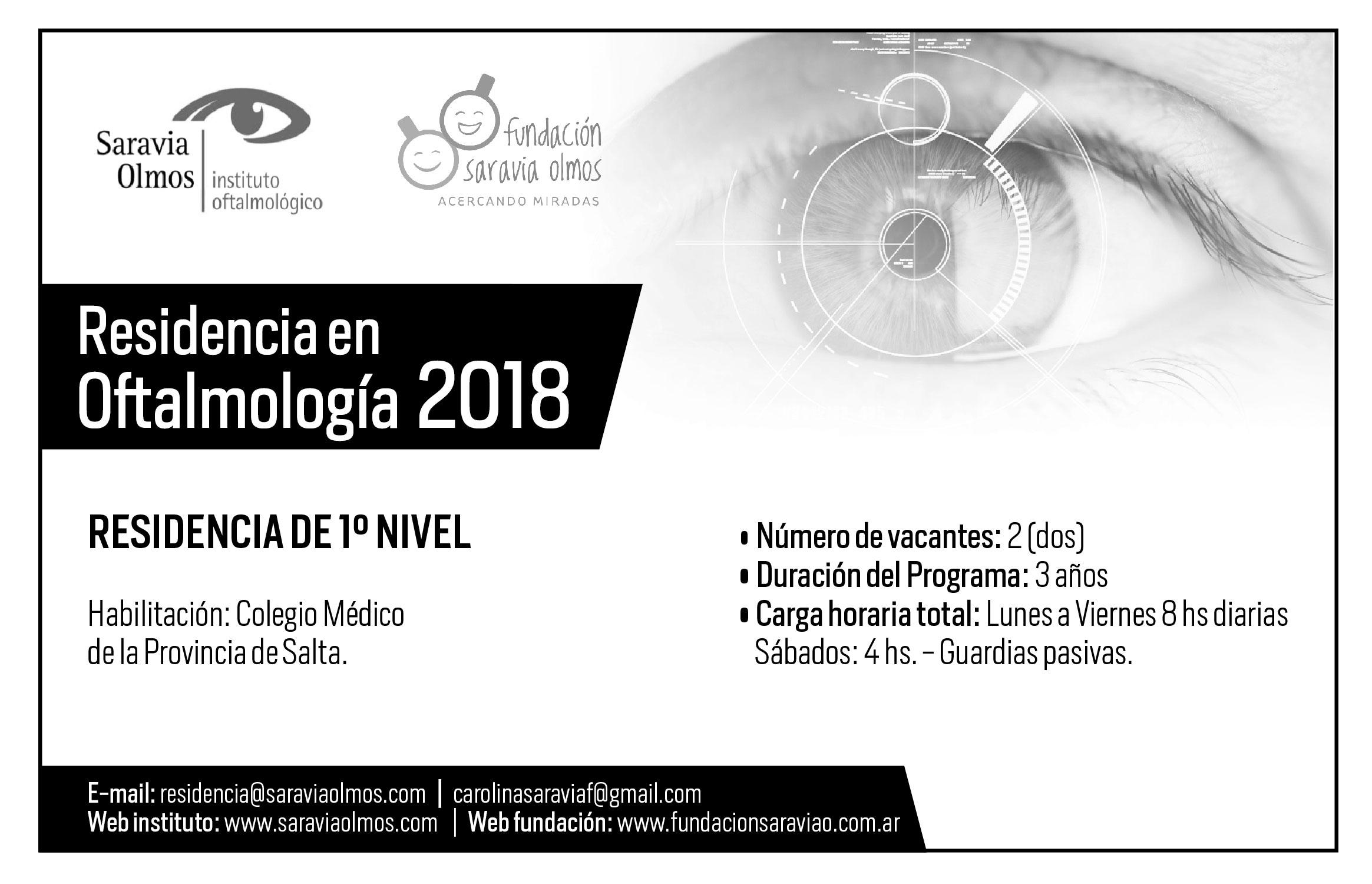 Residencia en Oftalmología 2018 en Salta