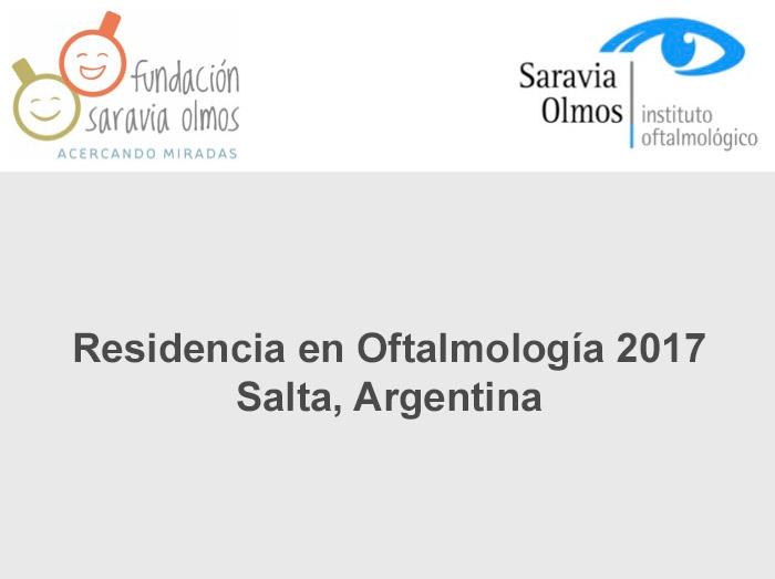 Residencia en Oftalmología 2017